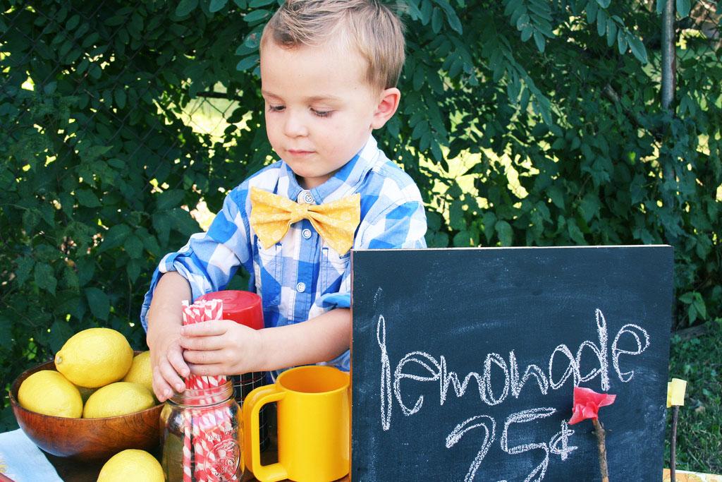 Boy at Lemonade stand